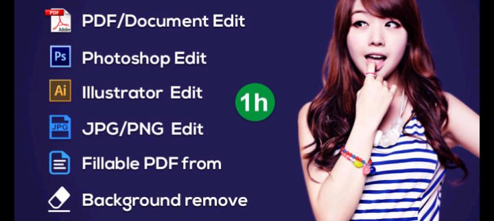Create and Edit any Documents (PDF,  Jpg, docs)
